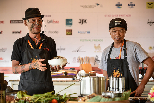 Rahung Left On The Uff Cooking Demonstration Stage In
